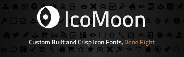 The classic icon font generator: IcoMoon.