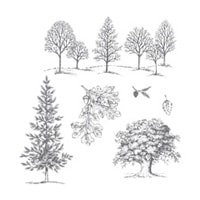 Lovely As A Tree Wood-Mount Stamp Set