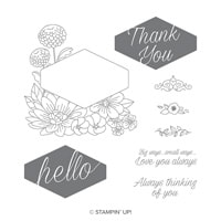 Accented Blooms Clear-Mount Stamp Set
