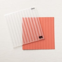 Striped Scallops Textured Impressions Embossing Folder