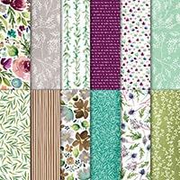 """Frosted Floral 12"""" X 12"""" (30.5 X 30.5 Cm) Specialty Designer Series Paper"""