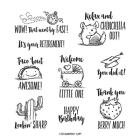 Witty-Cisms Cling Stamp Set