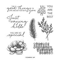 Tasteful Touches Cling Stamp Set (English)
