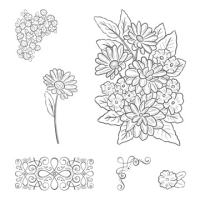 Ornate Style Cling Stamp Set