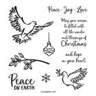 Dove Of Hope Cling Stamp Set (English)