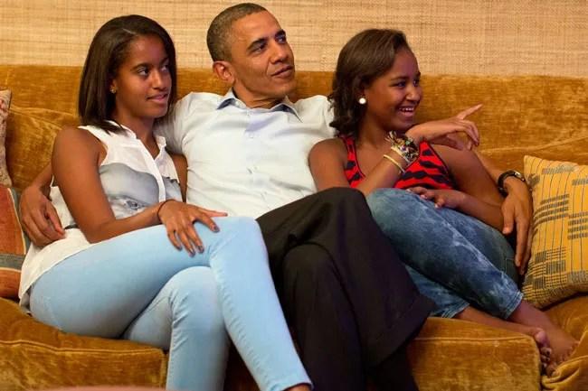 A Look Back At Malia And Sasha Obamas First Daughter
