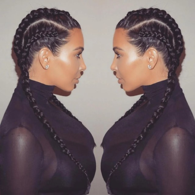 "this hairstyle is not called ""boxer braids"" and kim"