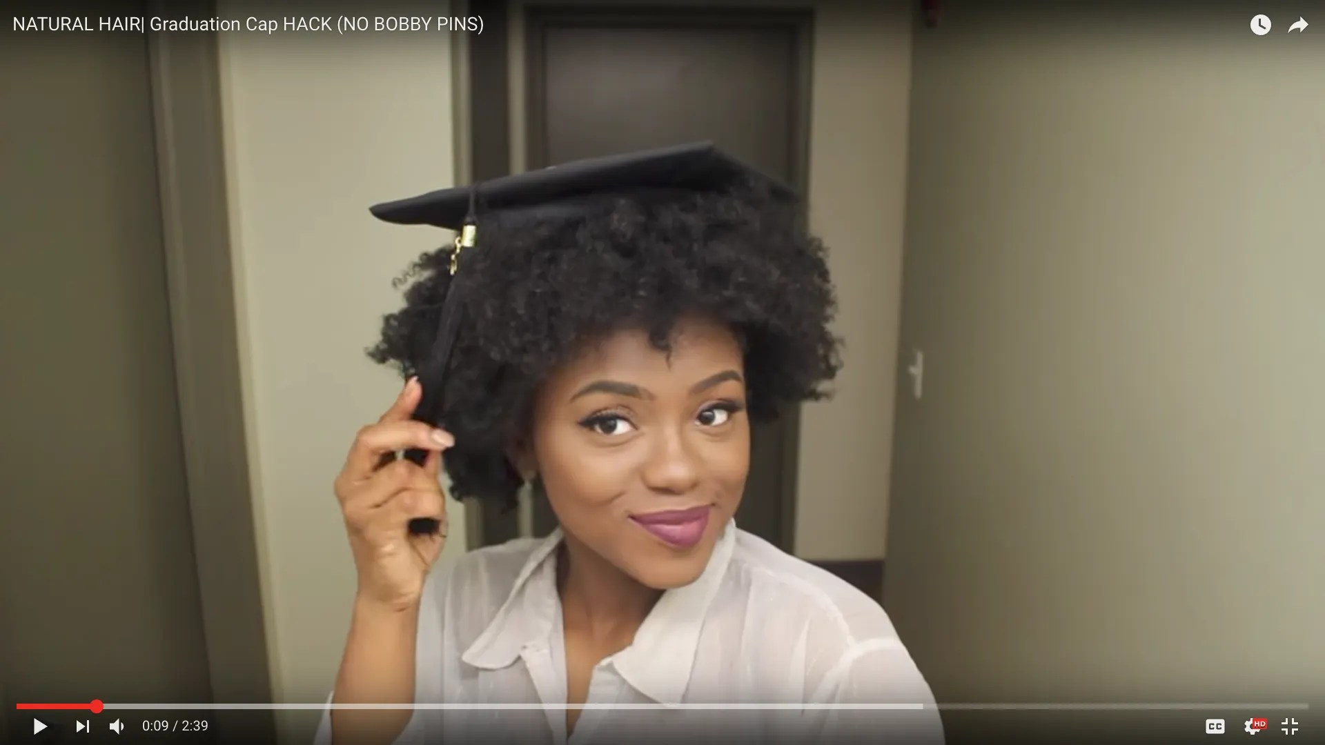 How To Wear a Graduation Cap for Natural Hair Types