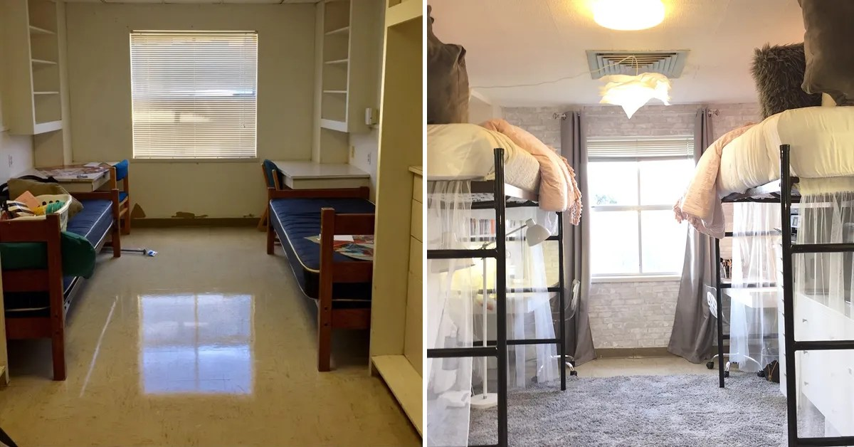 Texas State University Dorm Decor Transformation Teen Vogue