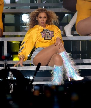Image result for beyonce coachella 2018 yellow hoodie