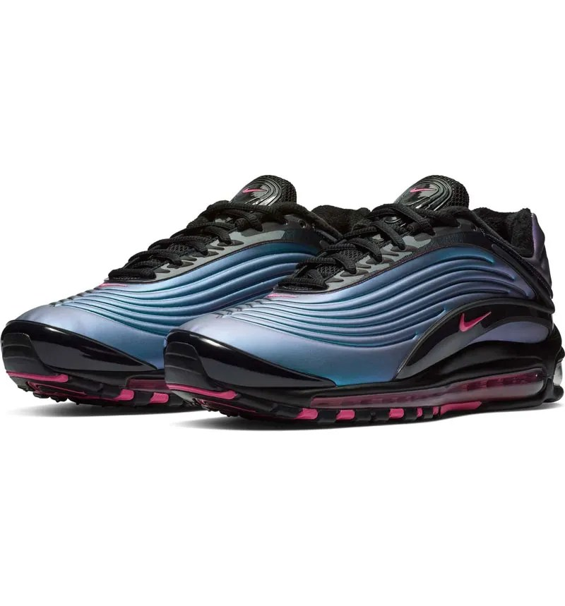 nike air max blue and pink and black