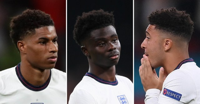 Black English Soccer Stars Marcus Rashford, Jadon Sancho, and Bukayo Saka  Supported by Fans After Racist Outburst | Teen Vogue