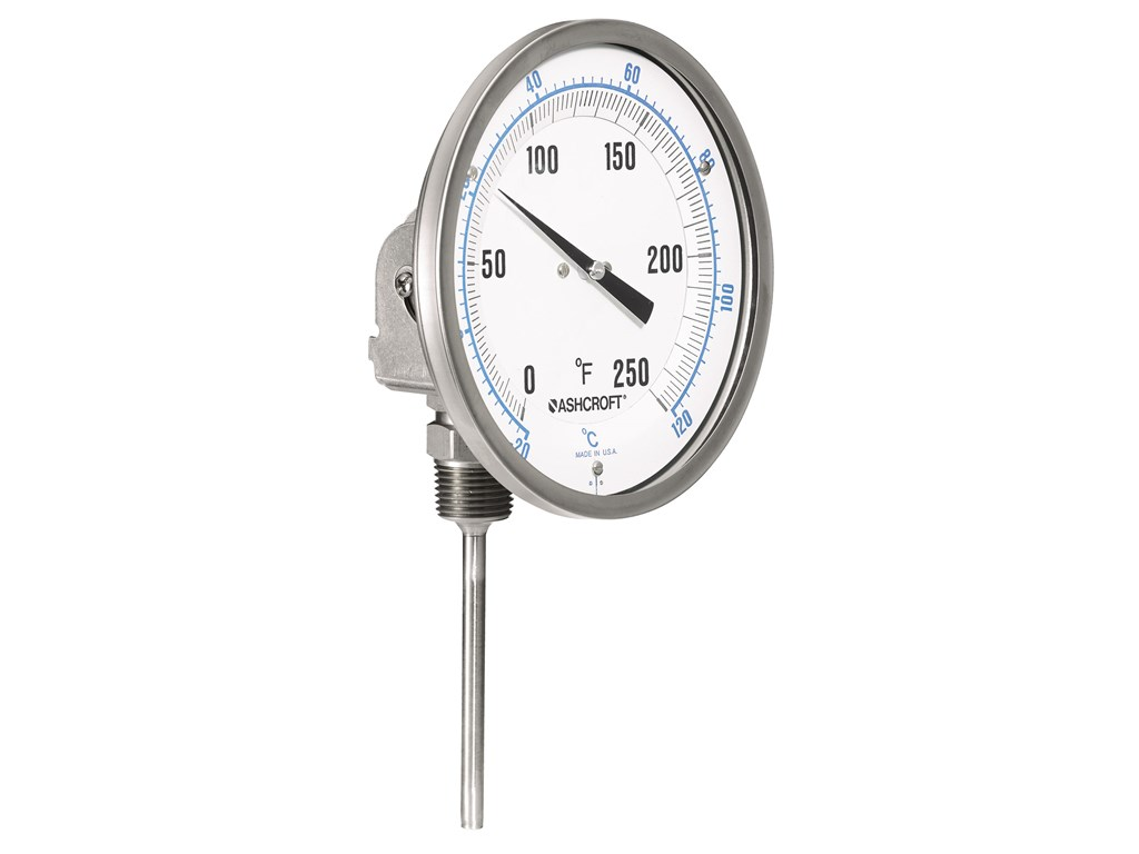 Ashcroft El Bimetal Liquid Filled Thermometers 5 Inch