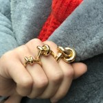 Engelbert Absolutely Slim Knot Ring Gold Ring Gold The Jewellery Room