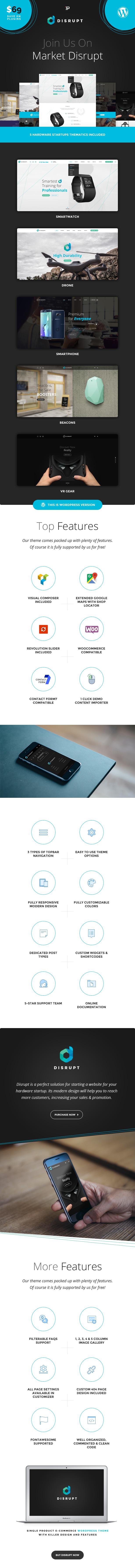 Disrupt - WooCoommerce Product WordPress Theme