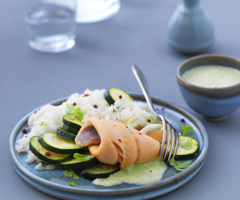 filet de truite saumonee a la sauce sublime