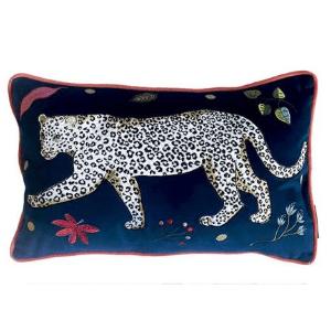 karen mabon leopard cushion left