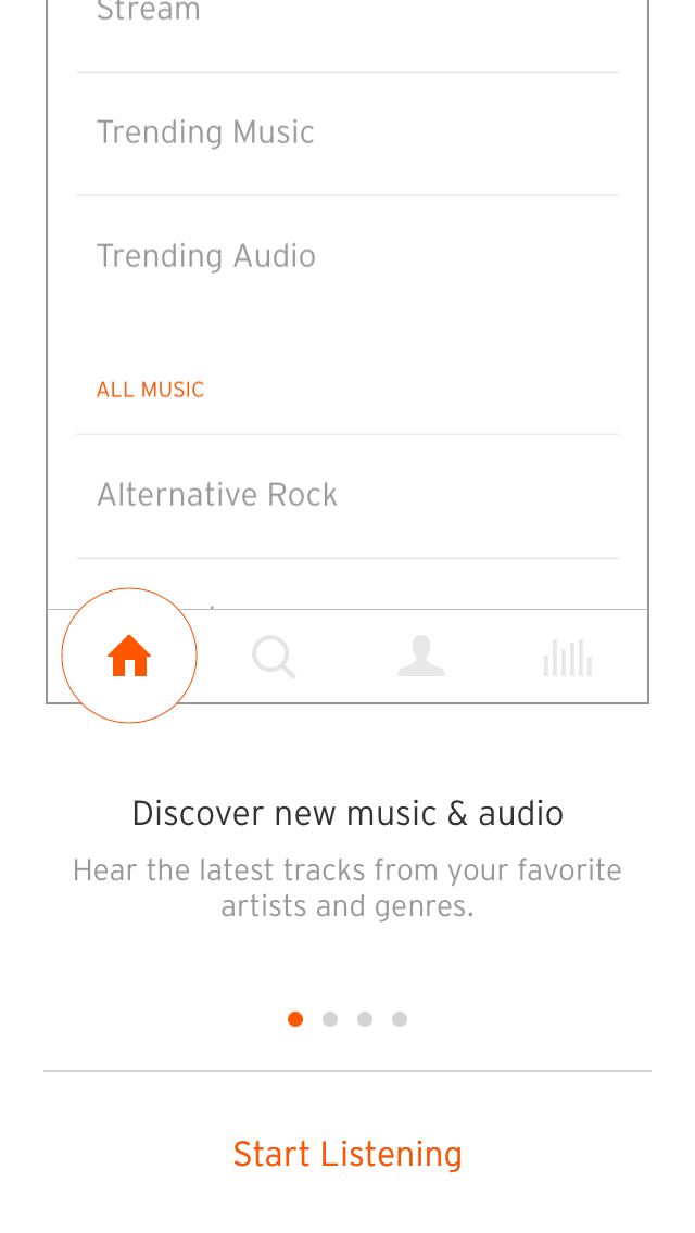 Onboarding on iOS by Soundcloud from UIGarage