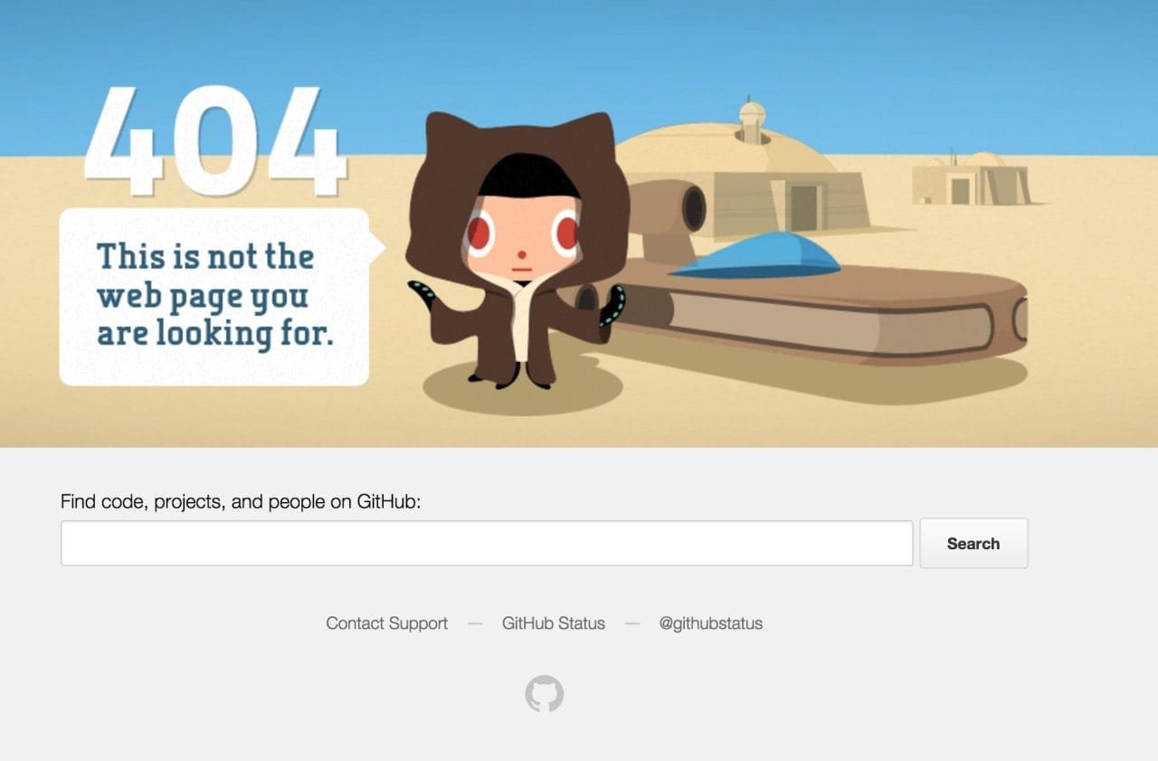 404 Page by Github from UIGarage
