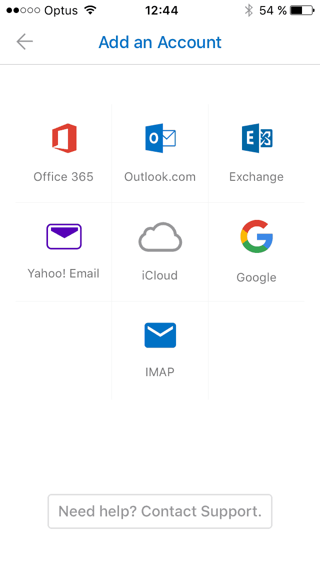 Signup on iOS by Outlook from UIGarage