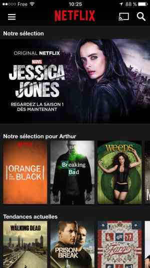 Homepage on iOS by Netflix from UIGarage