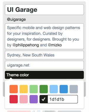Color Picker by Twitter from UIGarage