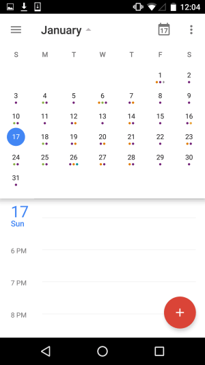 Monthly View by Google Calendar from UIGarage