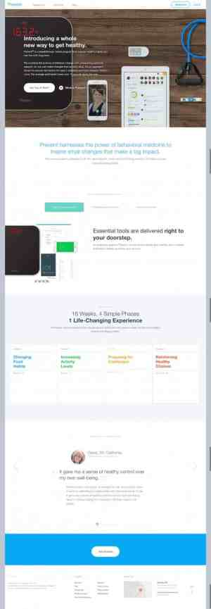 Awesome landing page by Prevent from UIGarage
