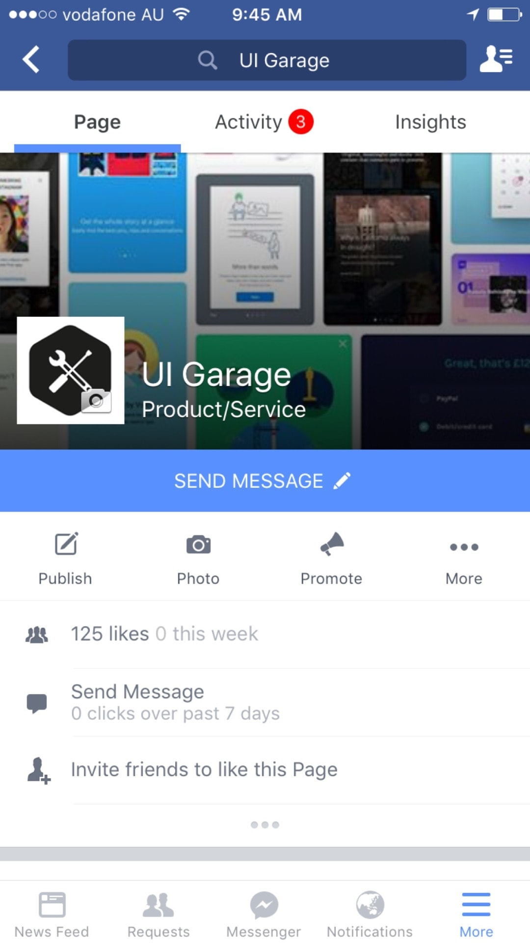 Tab bar by Facebook from UIGarage