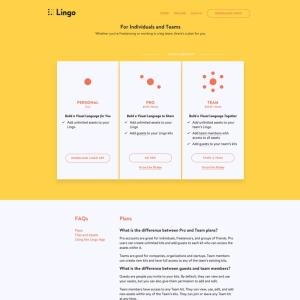 Pricing page by Lingo from UIGarage