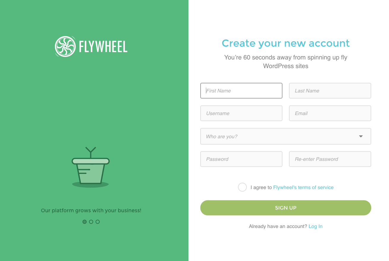 Sign upon iOS by Flywheel from UIGarage