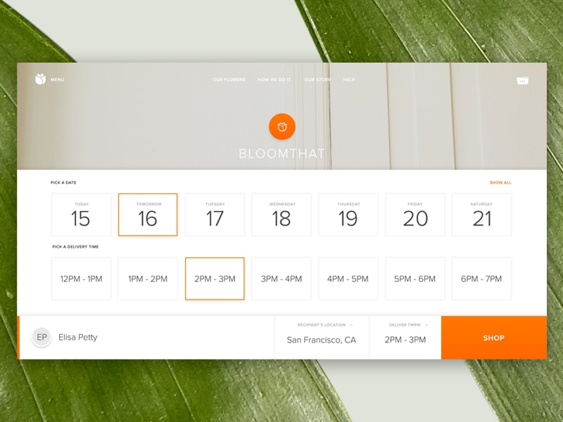Date Picker by BloomThat from UIGarage