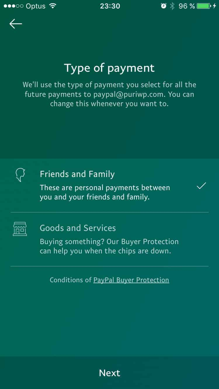 Checkbox Type Payment on iOS by PayPal from UIGarage