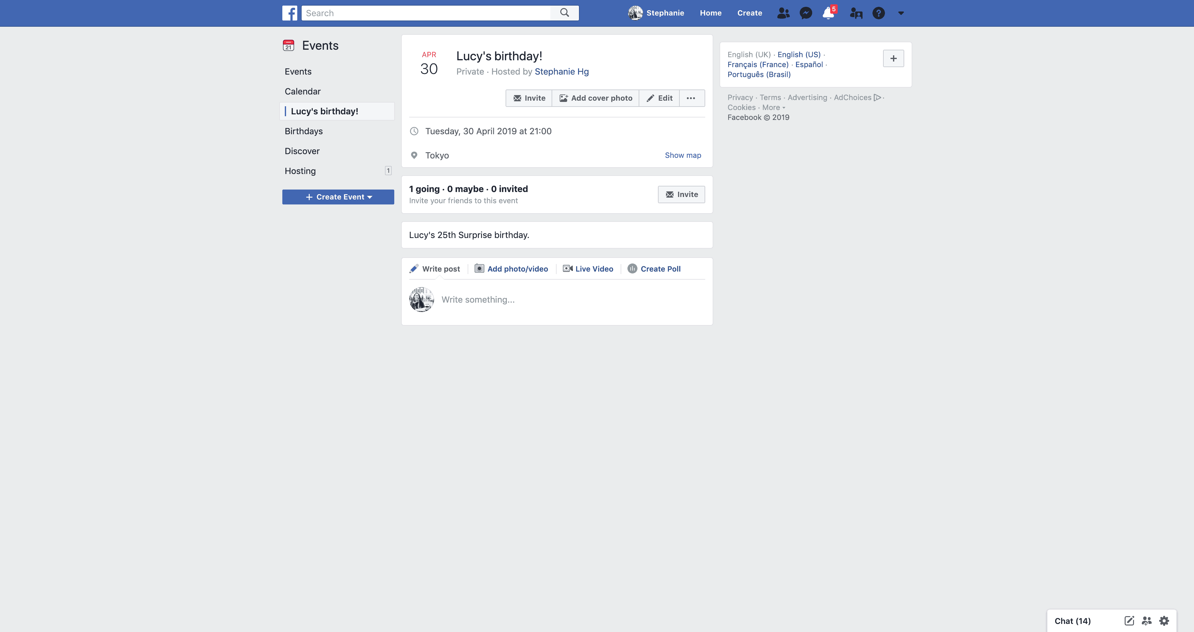 New Event's Page by Facebook from UIGarage