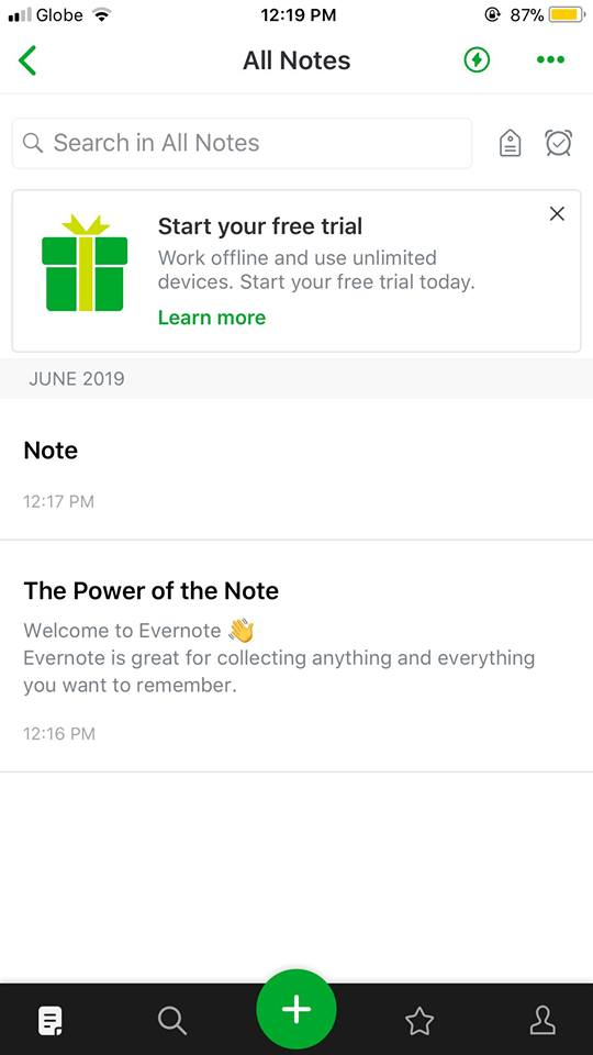 All Notes on iOS by Evernote from UIGarage