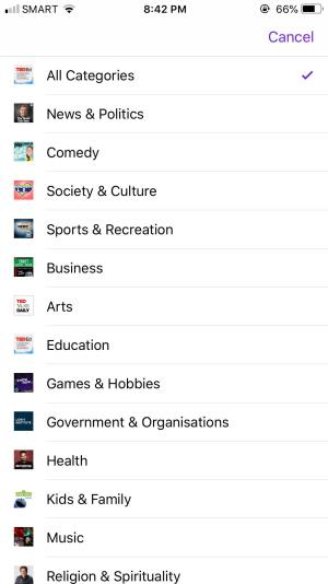 Categories on iOS by Apple Podcast from UIGarage