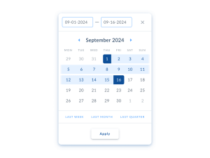 Desktop calendar Date Picker from UIGarage
