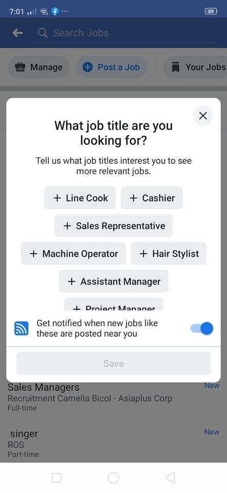 Jobs on Android by Facebook from UIGarage