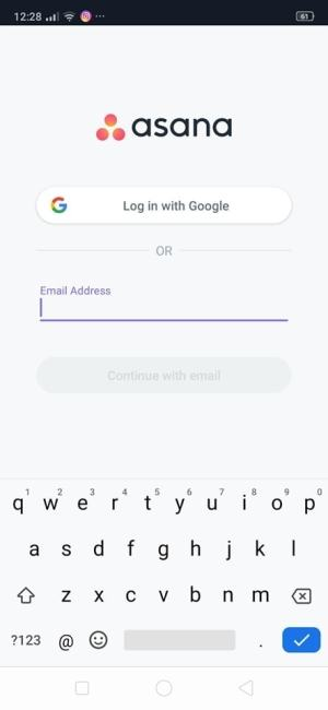 Login on Android by Asana from UIGarage