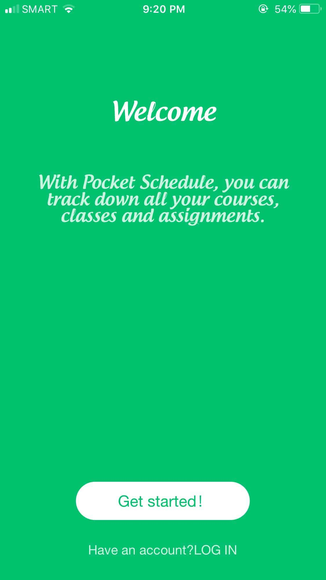 Onboarding on iOS by Pocket Schedule from UIGarage