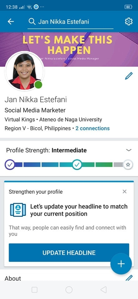 Profile on Android by Linked In from UIGarage