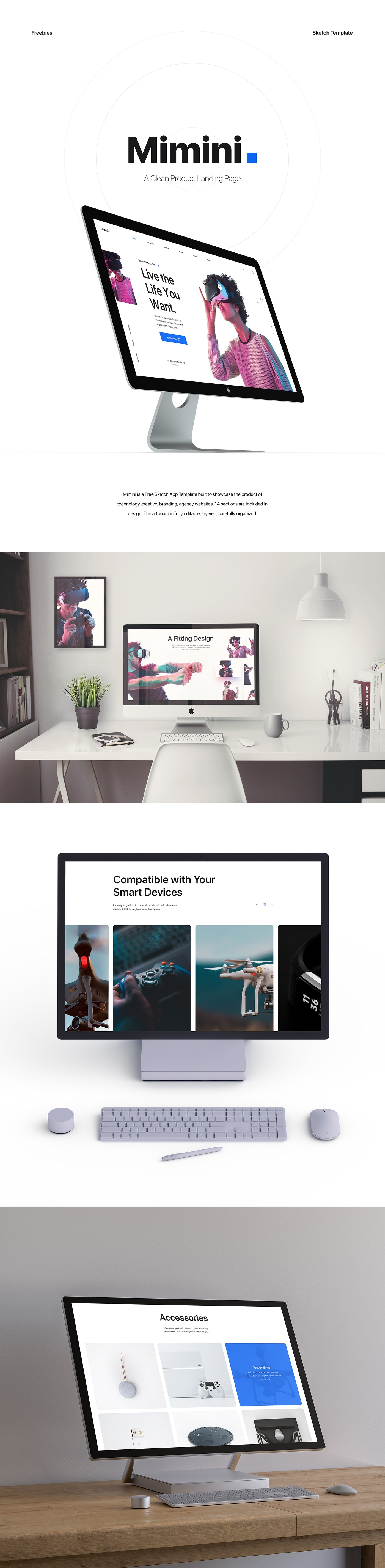 Mimini Free Landing Page from UIGarage