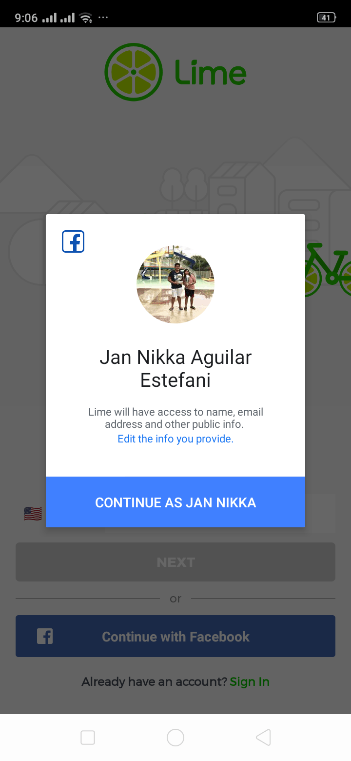 Connect to Facebook on Android by Lime from UIGarage