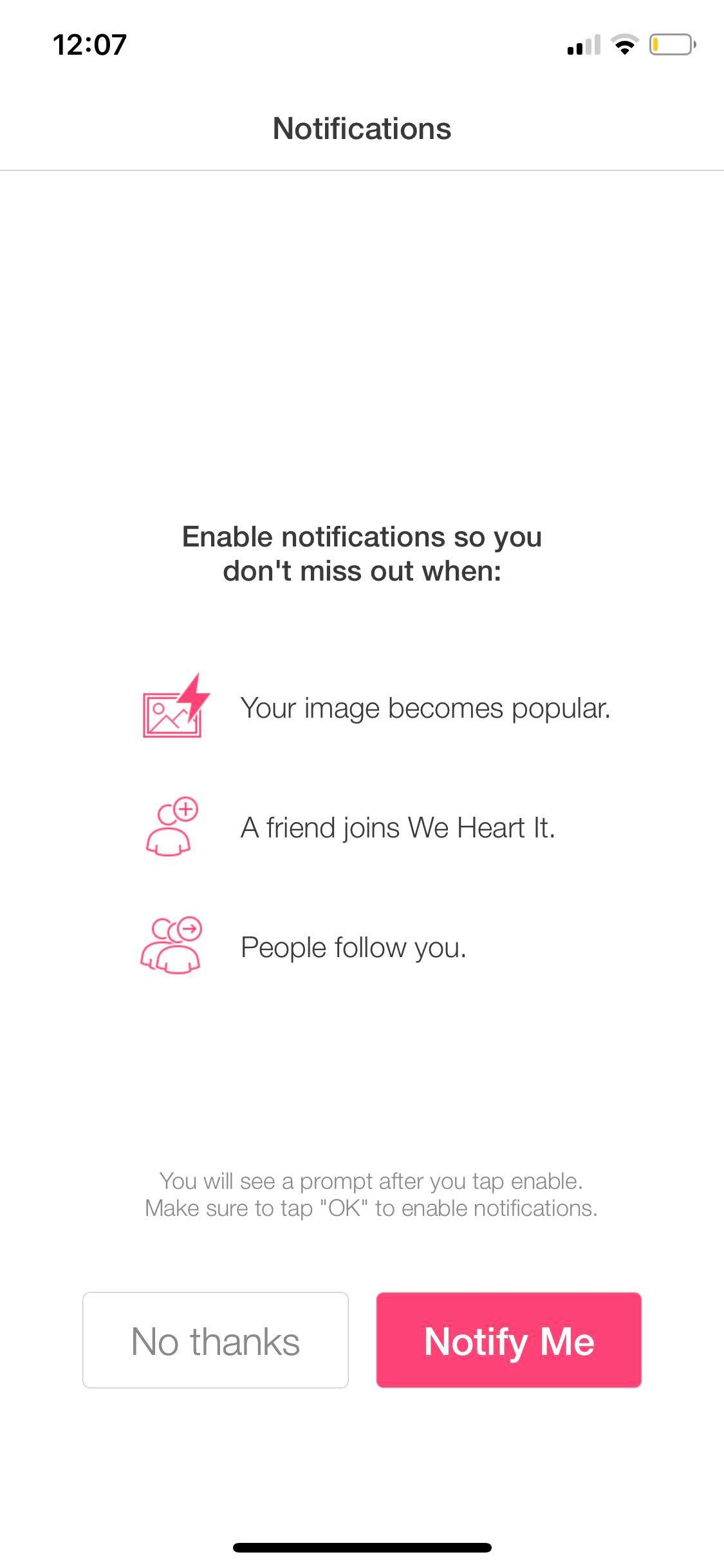 Ask Permission on iOS by We Heart It from UIGarage
