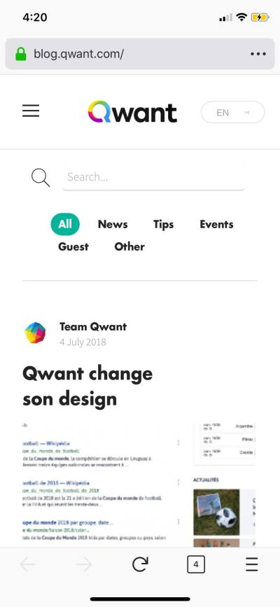 Blog on iOS by Qwant from UIGarage