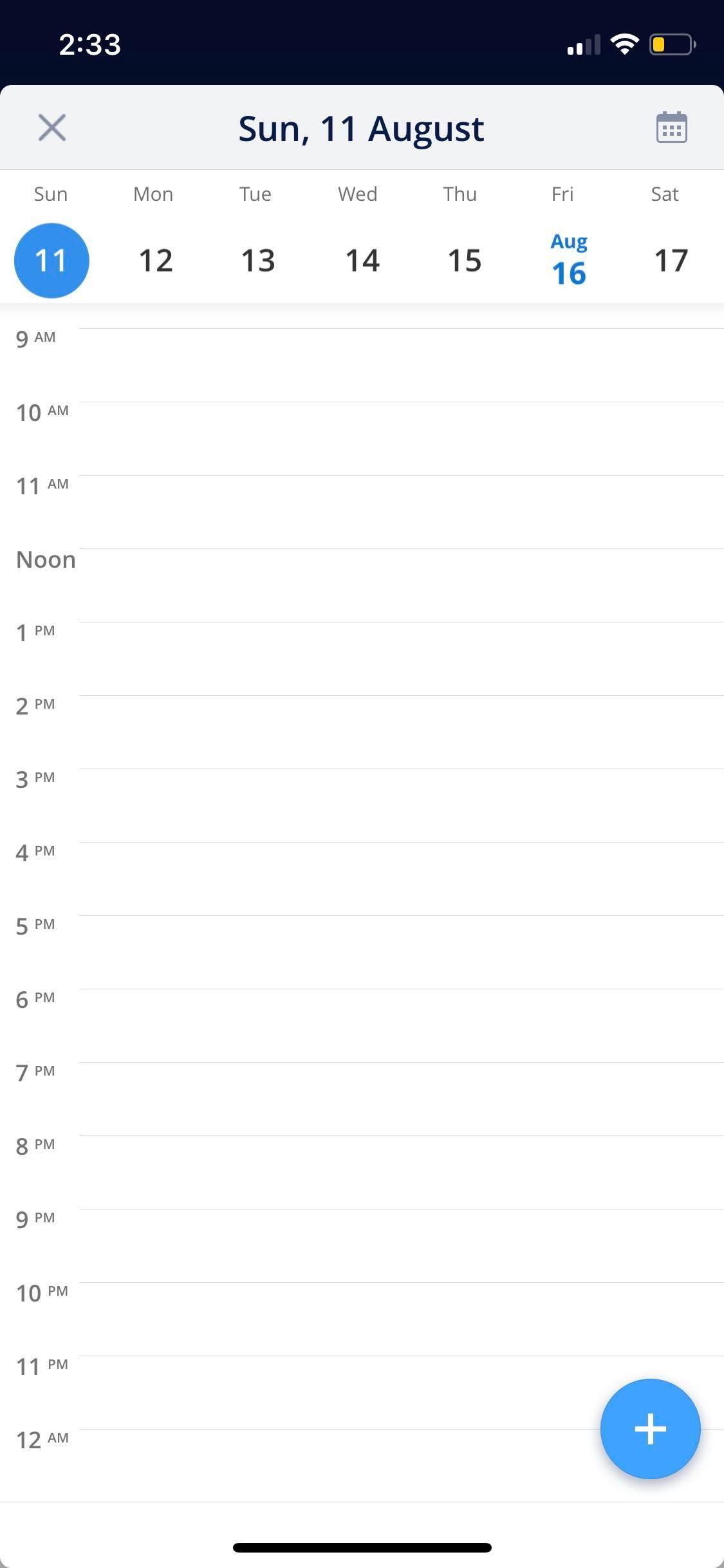 Calendar on iOS by Spark from UIGarage