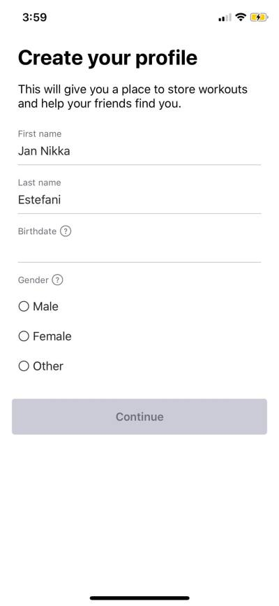 Create Profile on iOS by Strava from UIGarage