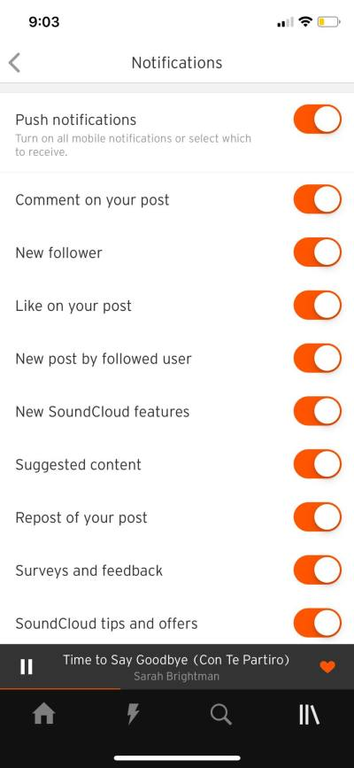 Notifications on iOS by Soundcloud from UIGarage