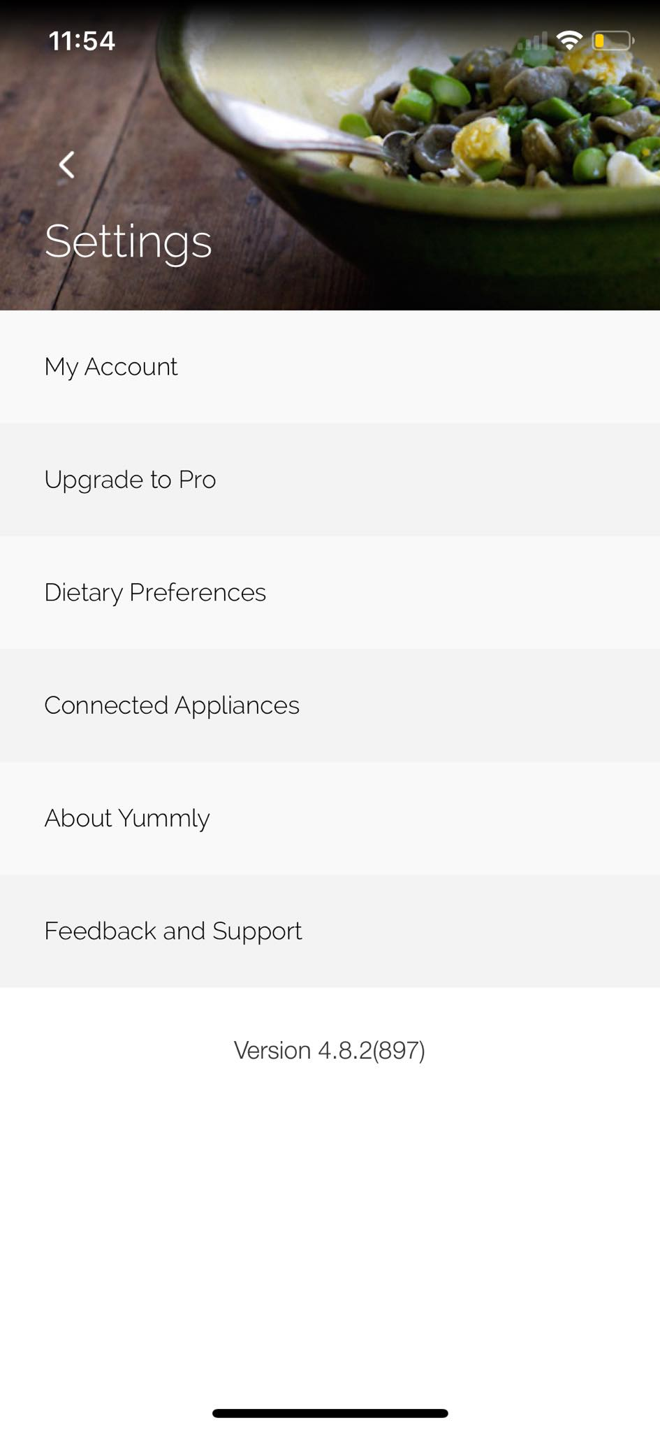 Settings on iOS by Yummly from UIGarage