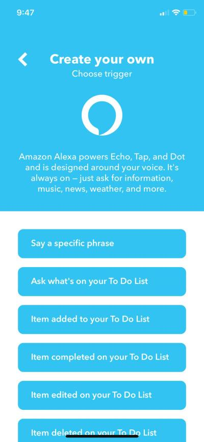 Alexa on iOS by IFTTT from UIGarage